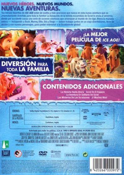 ICE AGE 5: EL GRAN CATACLISMO (análisis del DVD) AudioVideoHD.com