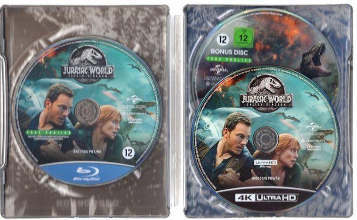 Jurassic World: El Reino Caído. Blu-Ray 4K Edición Metálica Limitada