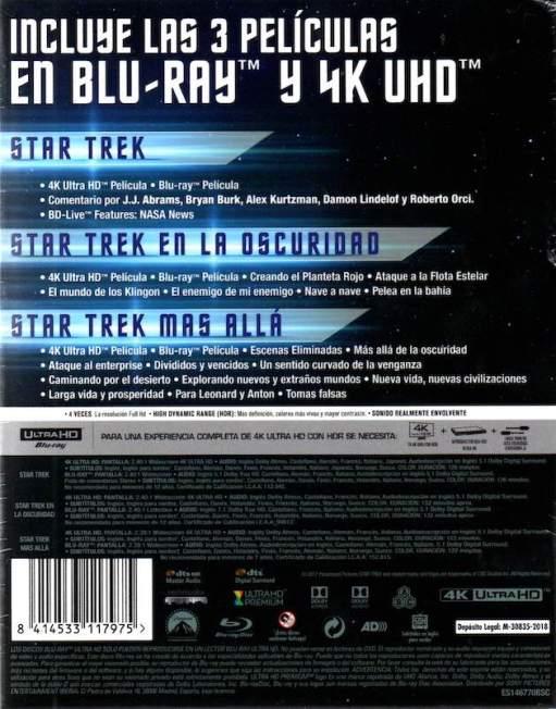 STAR TREK: LA COLECCIÓN CON LAS 3 PELÍCULAS EN 4K UHD + BLU-RAY - Análisis en AudioVideoHD.com