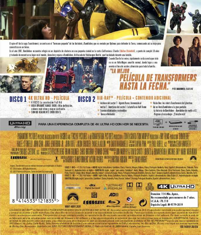 Bumblebee (analizamos el UHD) AudioVideoHD.com