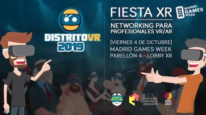 Fiesta en el Madrid Games Week 2019
