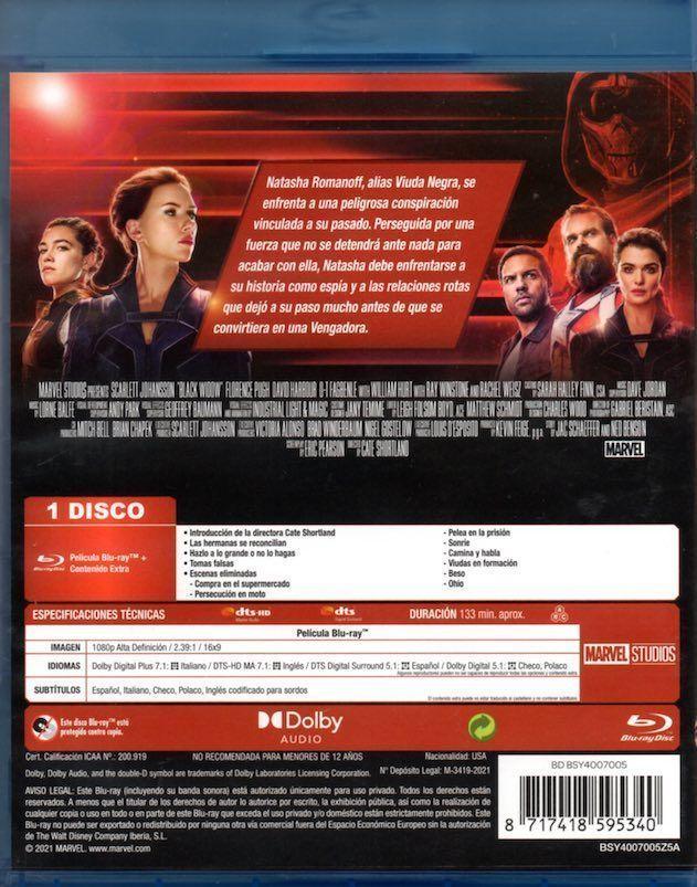 """Blu-Ray de """"Viuda Negra"""" (2021)"""