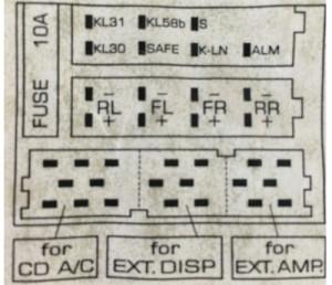 1998 VW Beetle Audio Wiring Radio Diagram Schematic Colors