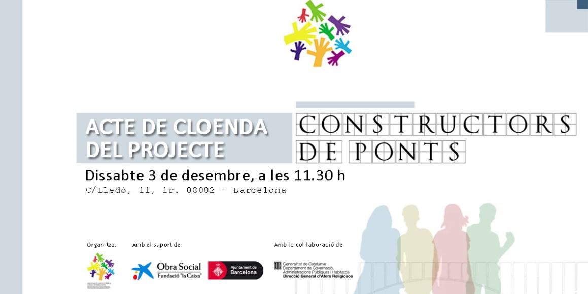 Invitació a l'acte de cloenda de Constructors de Ponts