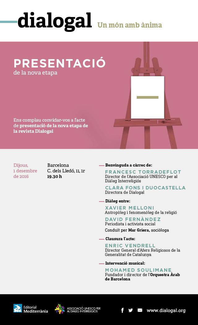 Revista Dialogal: Acte presentació de la nova etapa