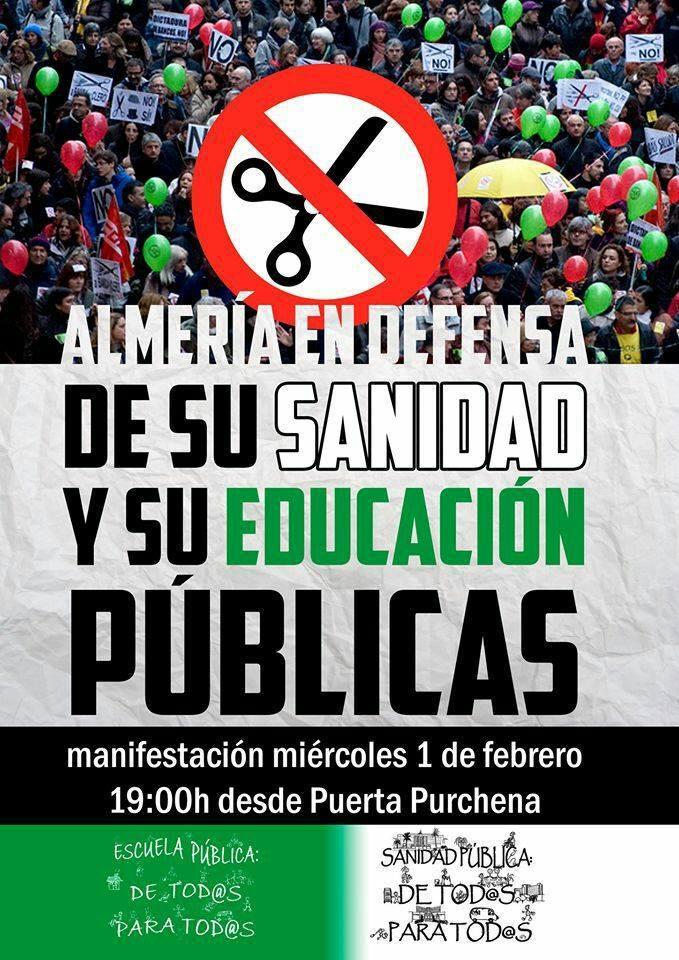 Almería En Defensa De Su Sanidad Y Educación Públicas – 01/02/2017 – Almería