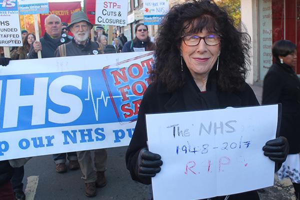 Manifestación_NHS Not for Sale