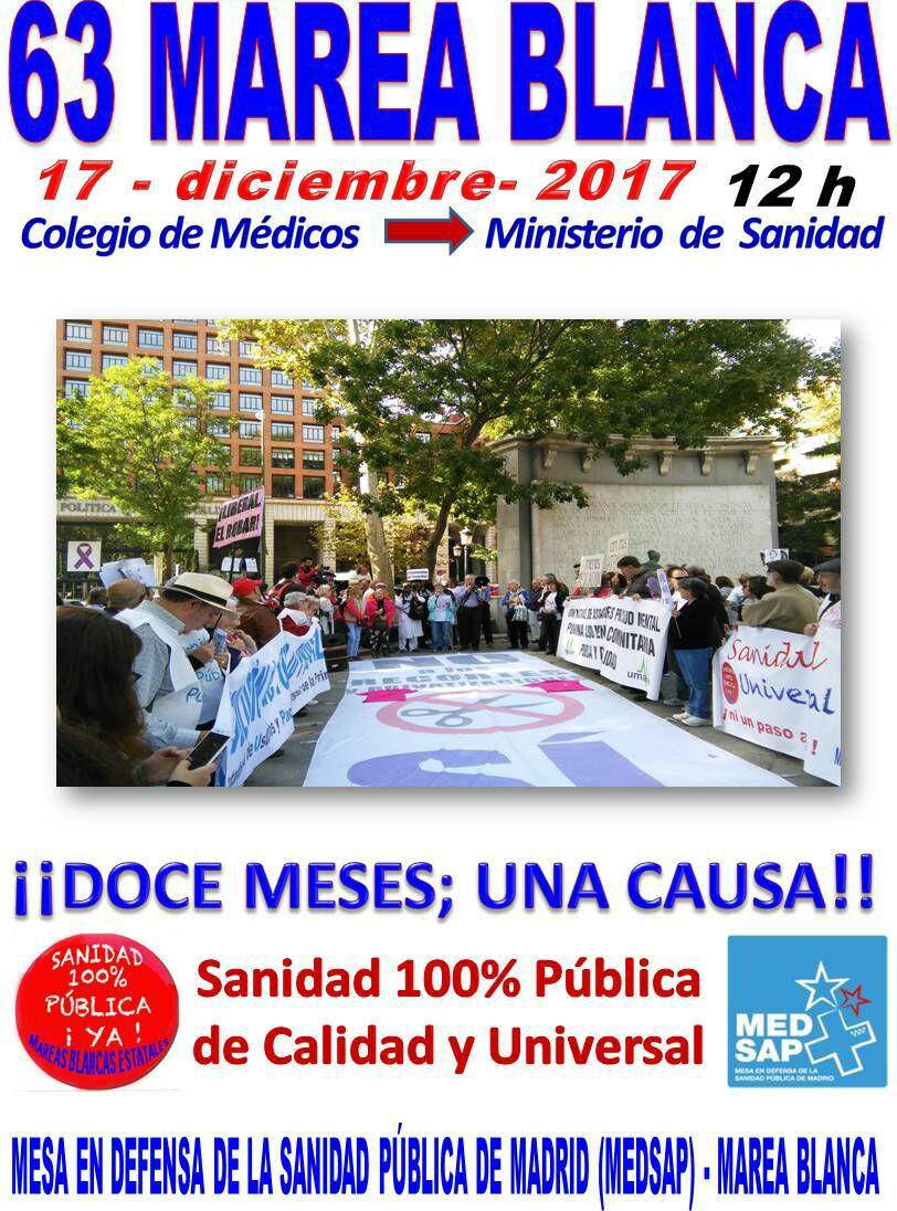 63ª Marea Blanca – 17/12/2017
