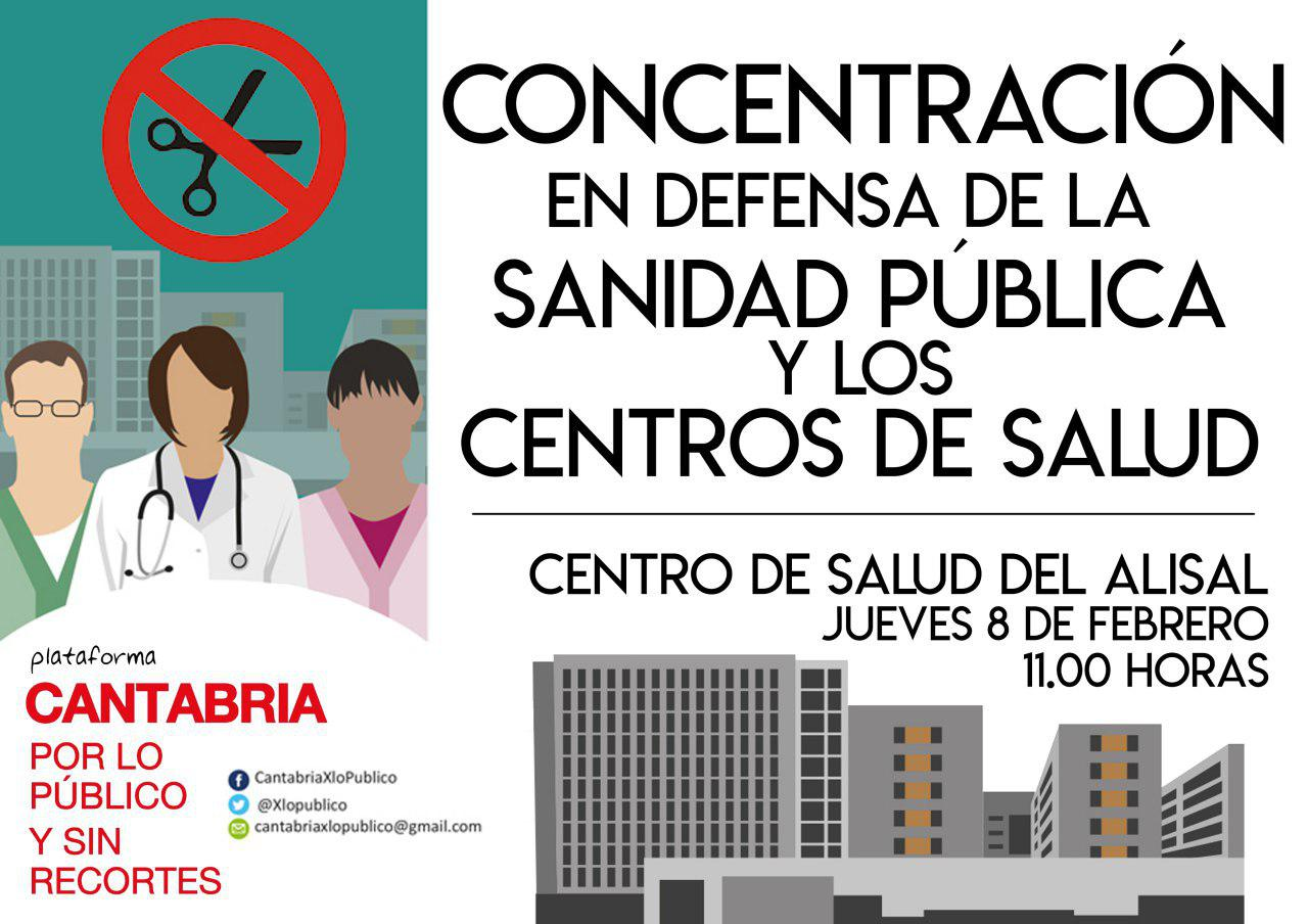 Concentración En Defensa De La Sanidad Pública Y Los Centros De Salud – Santander 08/02/2018