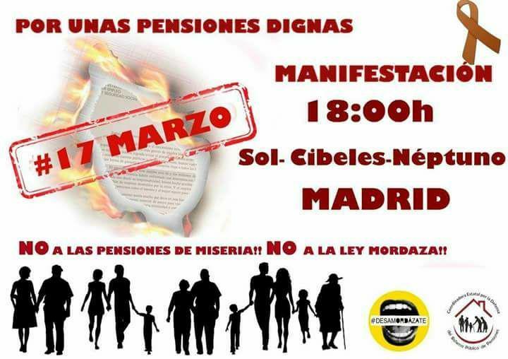 Manifestación En Defensa Del Sistema Público De Pensiones – 17/03/2018