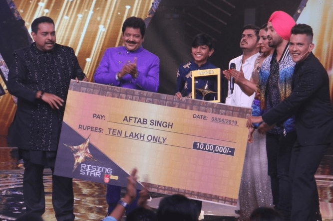 Aftab Singh Winner of Rising Star 2019 Season 3