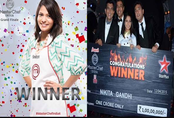 Masterchef India Season 4 2015 Winner Nikita Gandhi