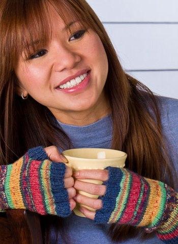 free pattern, fingerless gloves, Opal, Regia, sock yarn