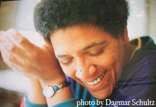 Color picture of Audre Lorde laughing
