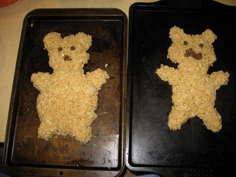 Two Rice Krispy Groundhogs