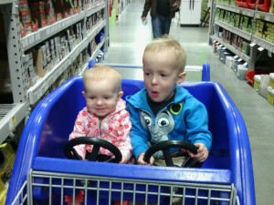 The kids think the double car carts are the best.