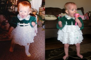 Me at one-year-old on the right. Ellen at on-year-old on the left.