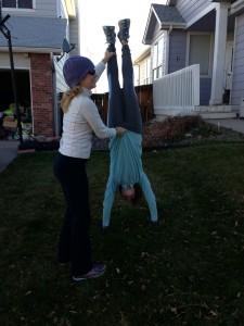 Birthday Handstand