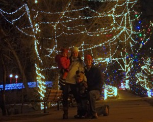 Family and the lights.