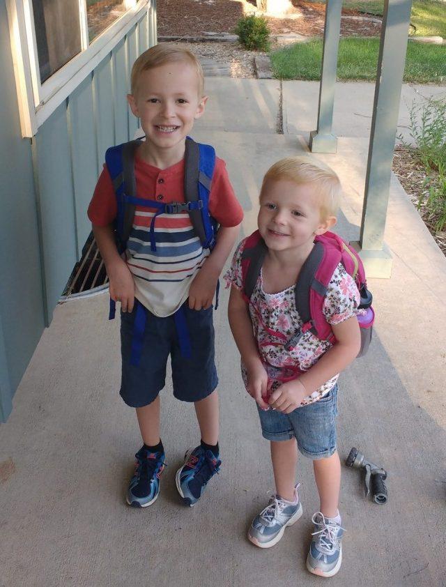 Kids ready to go to school