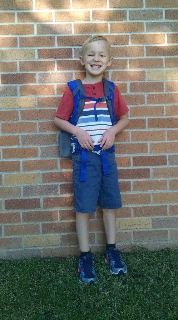 Our big first grader.