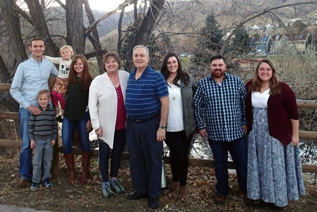 Everyone came for Thanksgiving and we were able to take a family photo.