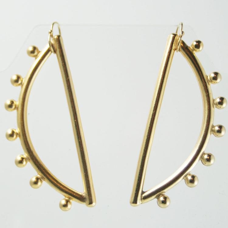 Wanna Wanna Wednesday: Gold Half Moon Sculpted Earring by Lingua Nigra