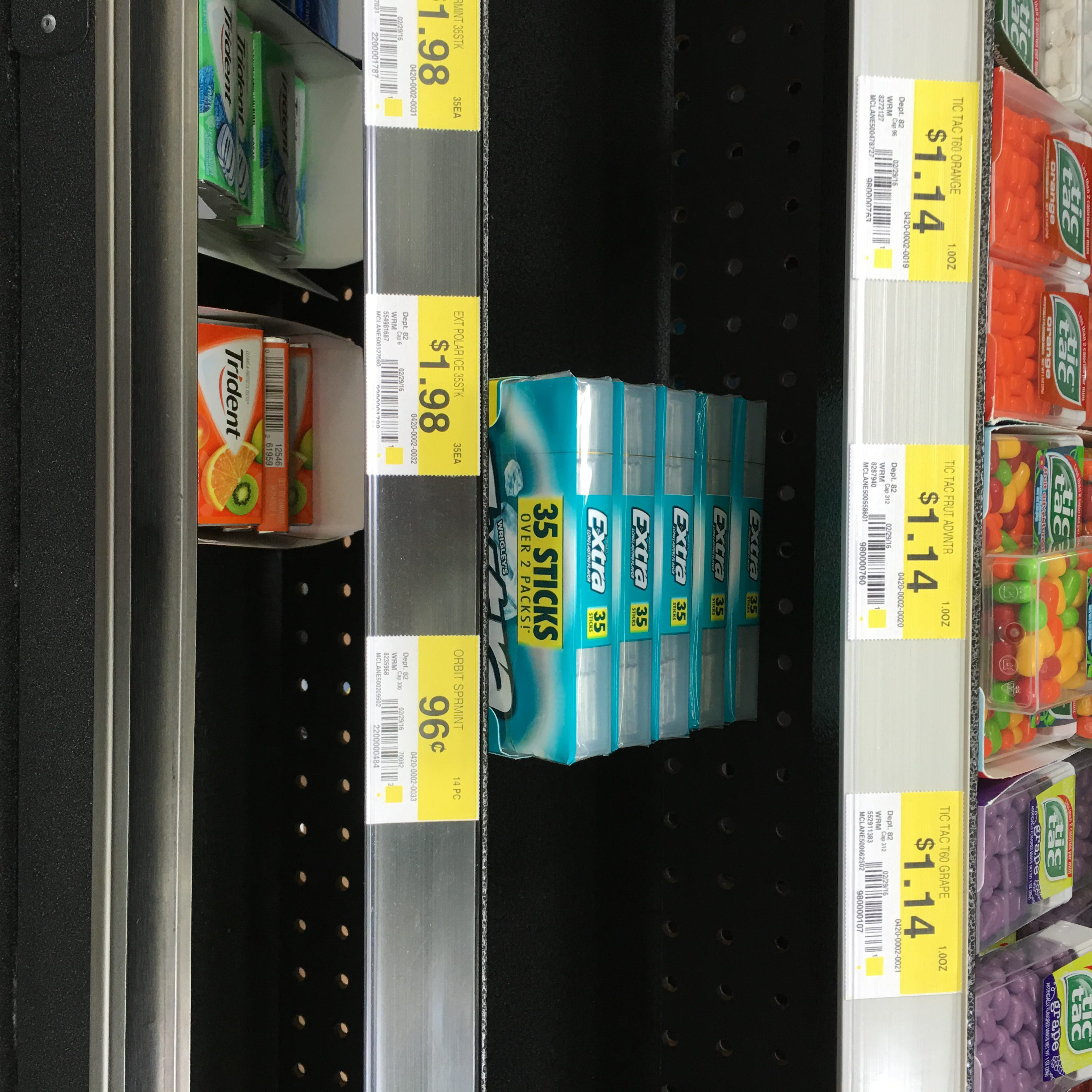 where to find extra gum in walmart