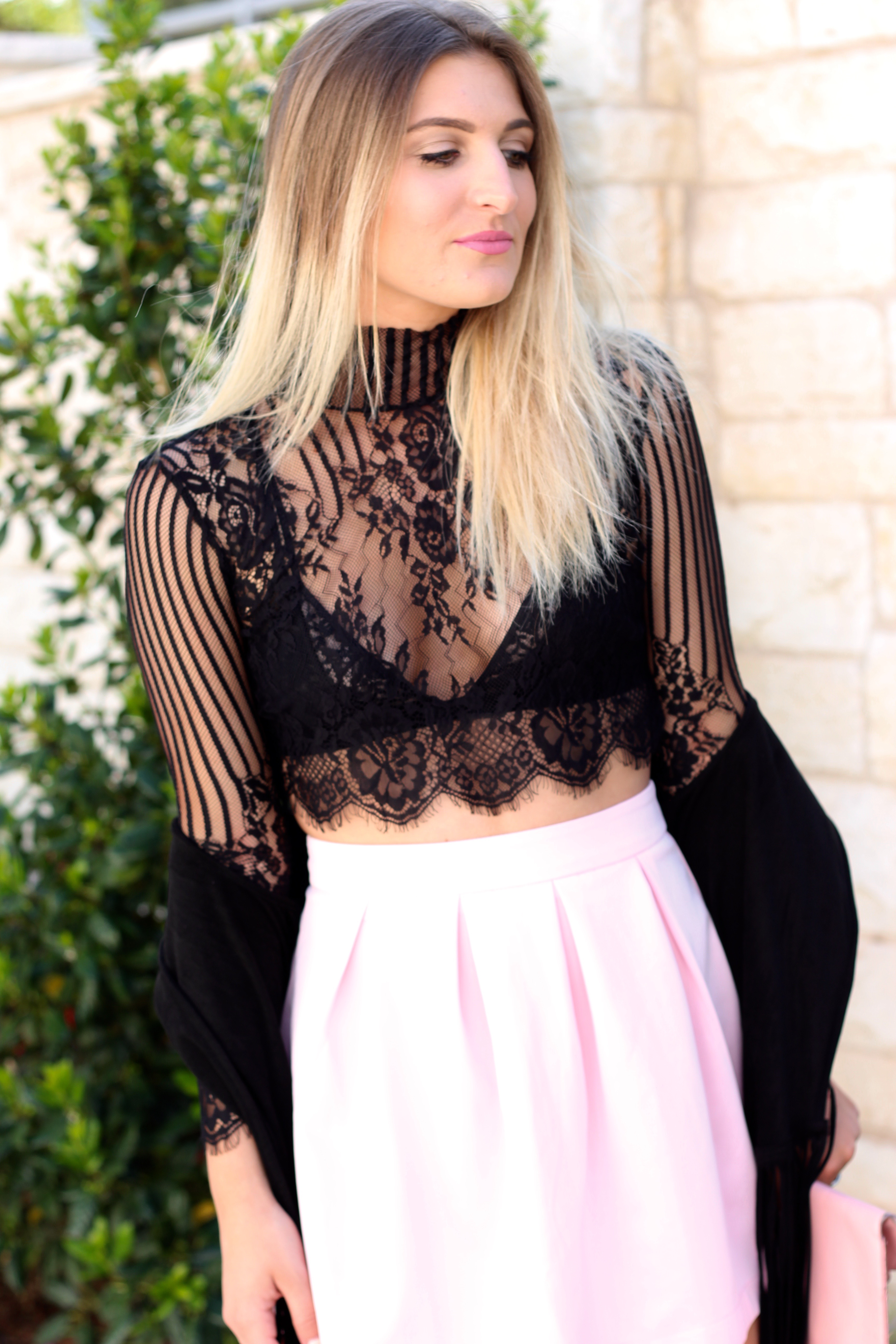 lace crop top from asos  - Lingerie Outfit By Day by popular Texas fashion blogger Audrey Madison Stowe