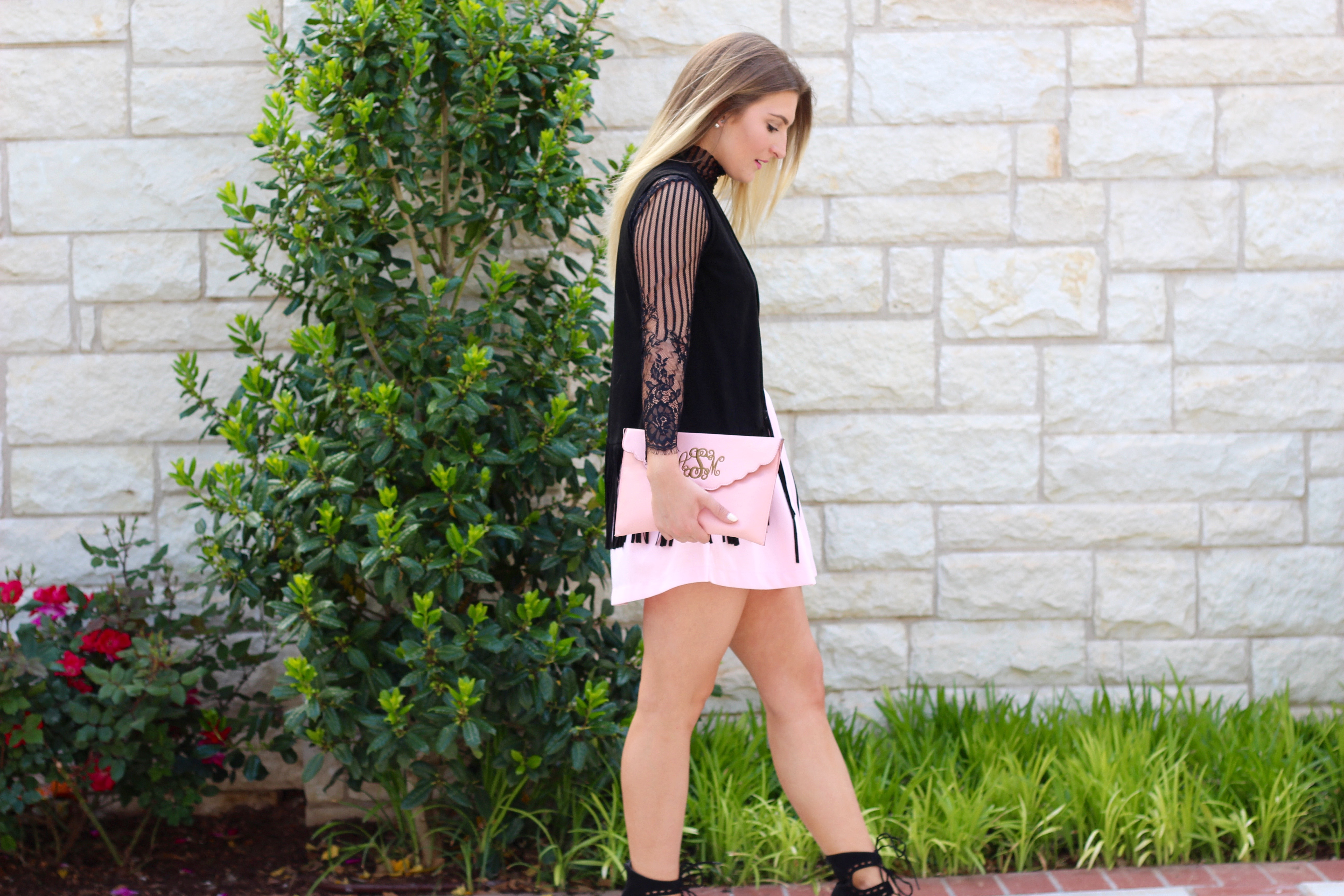lingerie and a girly skirt - Lingerie Outfit By Day by popular Texas fashion blogger Audrey Madison Stowe