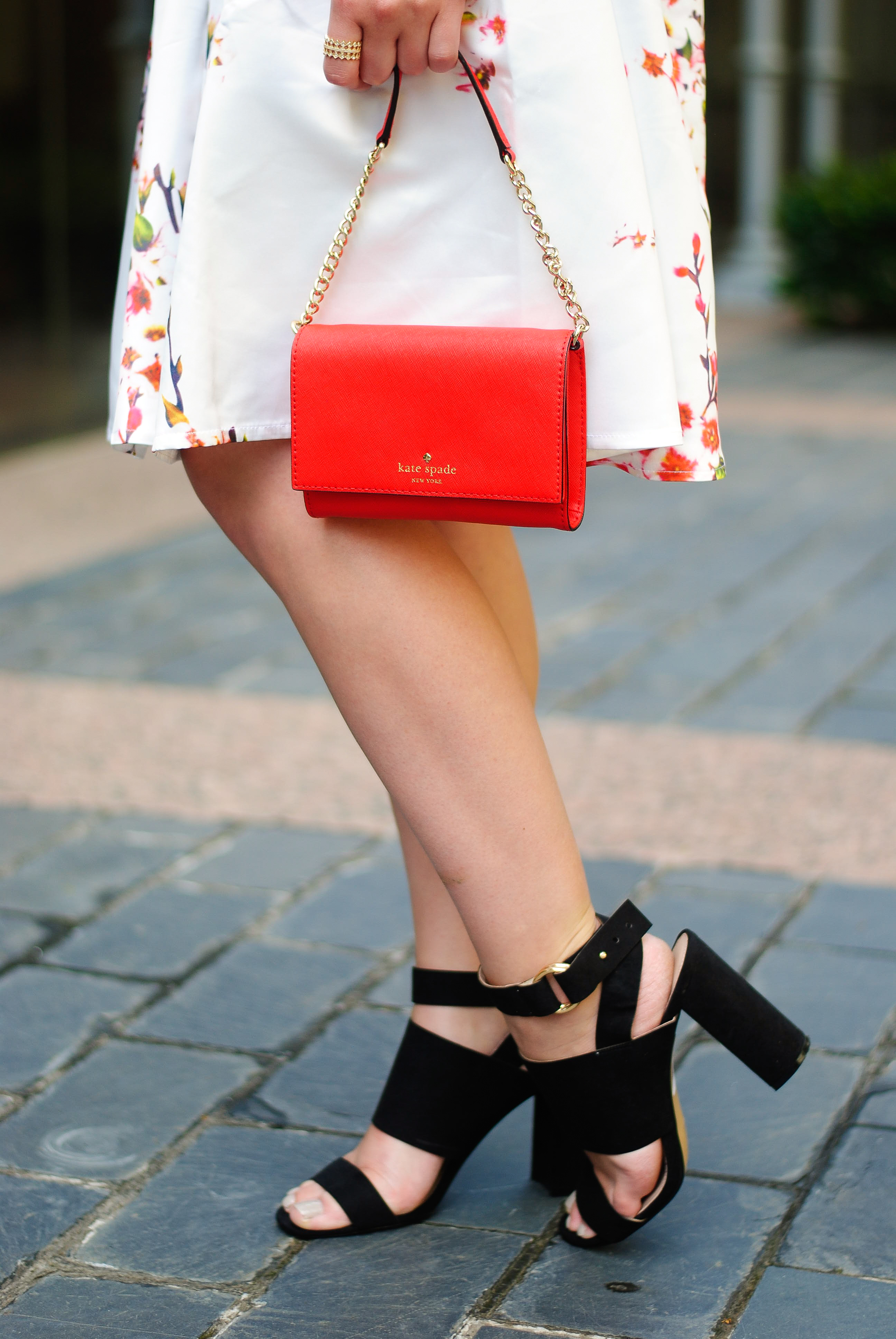 Summer skirt and block heel | Audrey Madison Stowe Blog