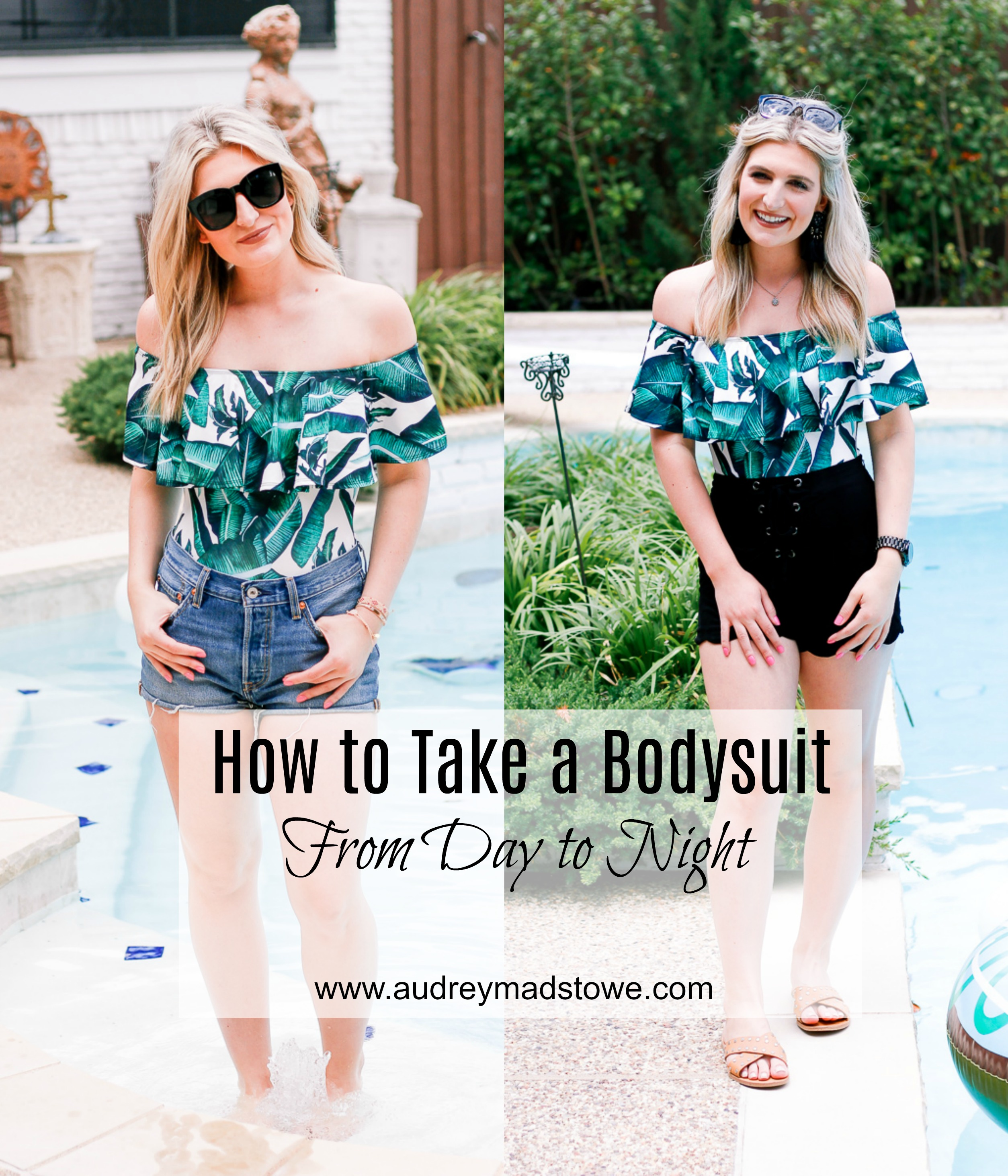 How To Take a Bodysuit from Day to Night | Shein style | Fashion and beauty blogger Audrey Madison Stowe