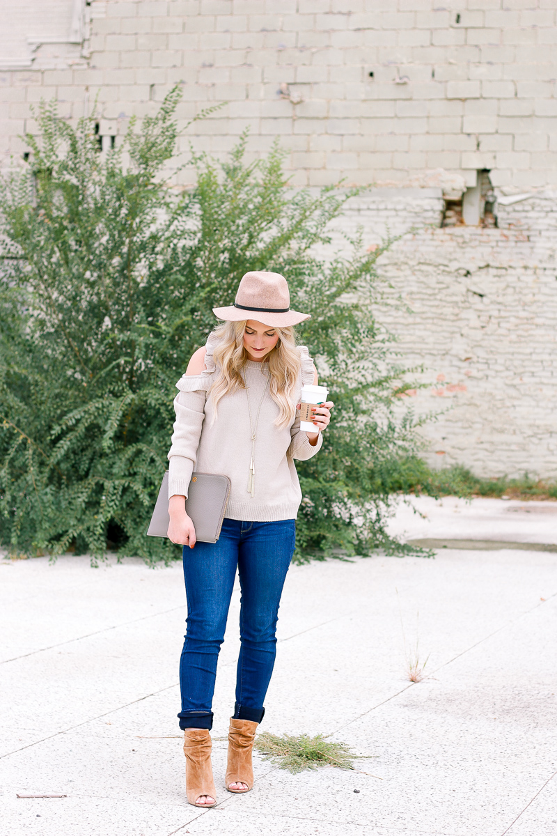 Cold Shoulder Sweaters For Fall | Audrey Madison Stowe a fashion and lifestyle blogger in Texas