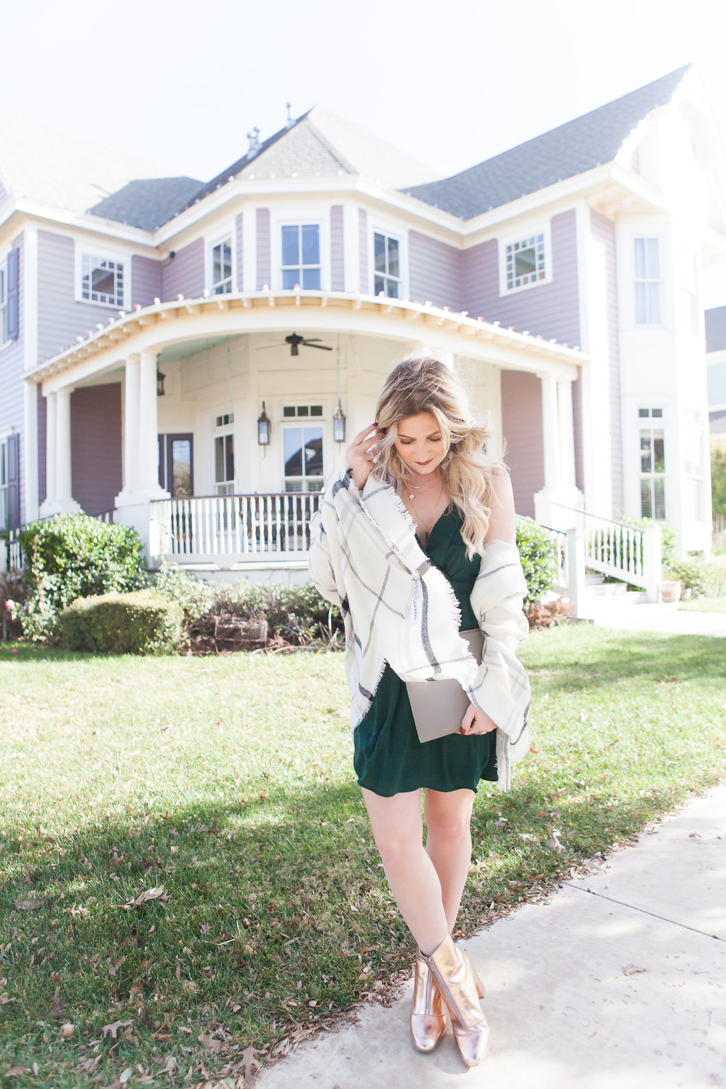Holiday Inspired Look | Pine Green Dress To Make You Stand Out | Audrey Madison Stowe a fashion and lifestyle blogger - 5 Holiday Looks To Get Inspired by Texas fashion blogger Audrey Madison Stowe