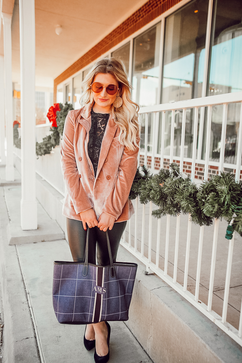 A Look Back at 2017 & Velvet Blazer by popular Texas style blogger Audrey Madstowe