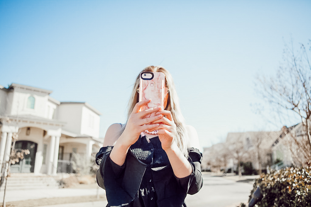New Spring Phone Case | LuMee Light up phone case | Audrey Madison Stowe a fashion and lifestyle blogger - New Light Up iPhone Case For Spring by popular Texas style blogger Audrey Madison Stowe