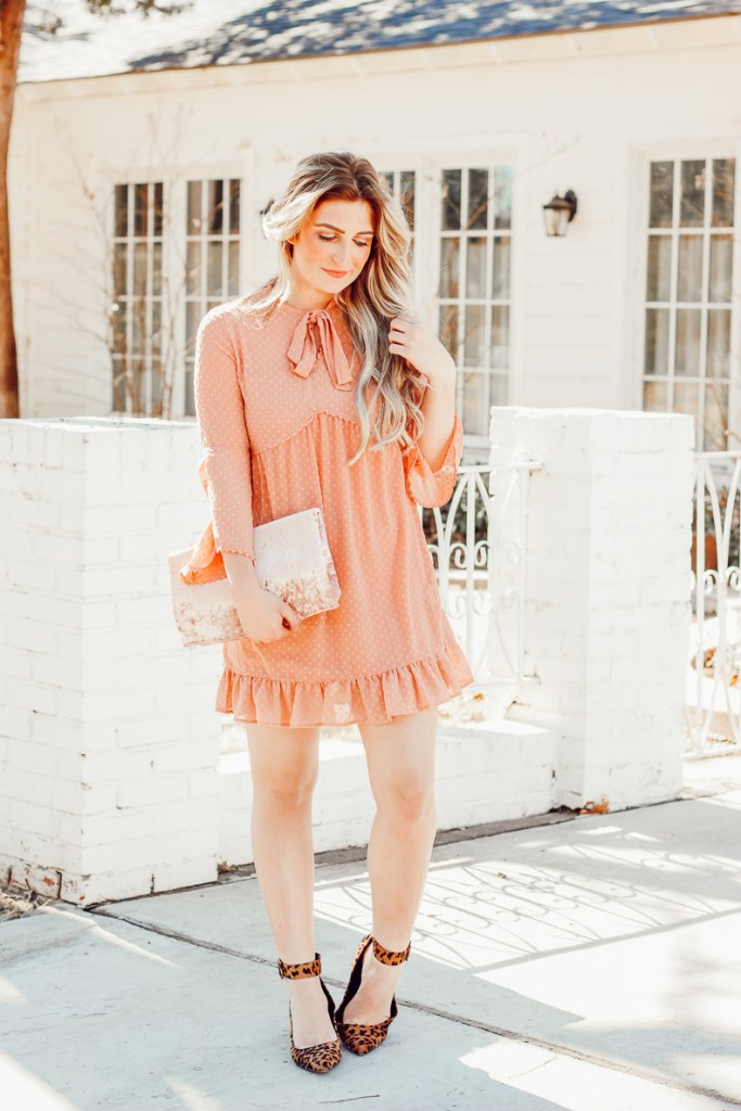 velvet clutch - Frilly Valentines Outfit by popular Texas fashion blogger Audrey Madison Stowe