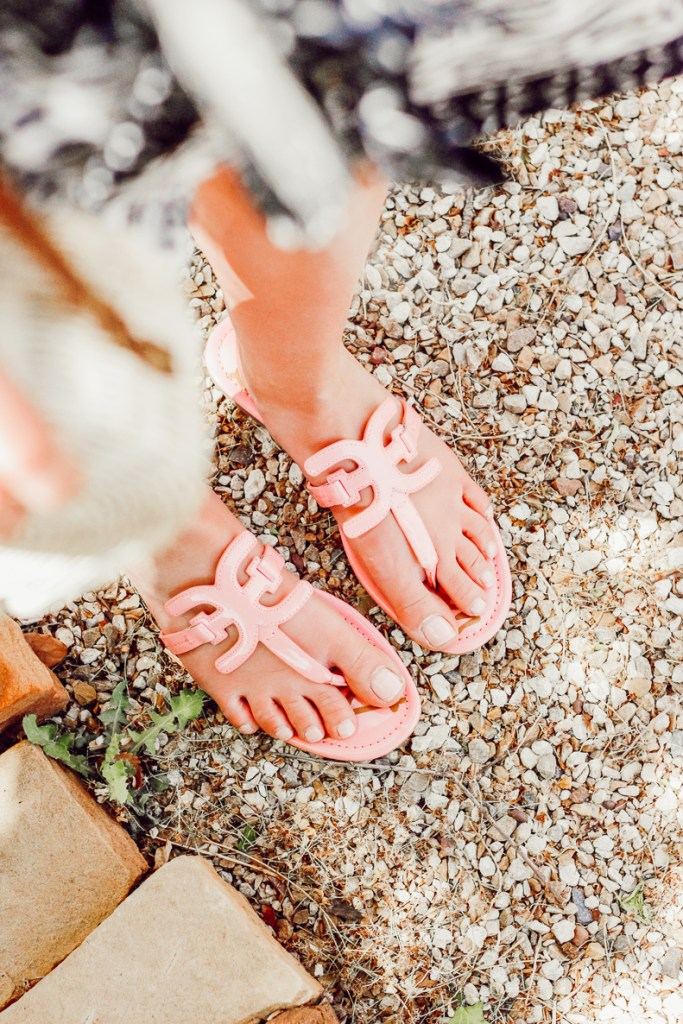 Pink Spring Sandals styled by popular Texas fashion blogger, Audrey Madison Stowe