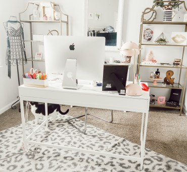 Modern Home Office Ideas | Girly Blogger Cloffice