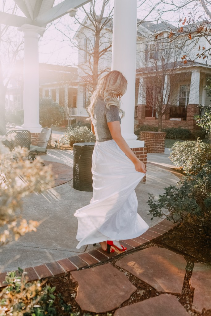 Princess Maxi Skirt | Lookbook | The Cutest New Years Eve Looks featured by top Texas fashion blogger Audrey Madison Stowe