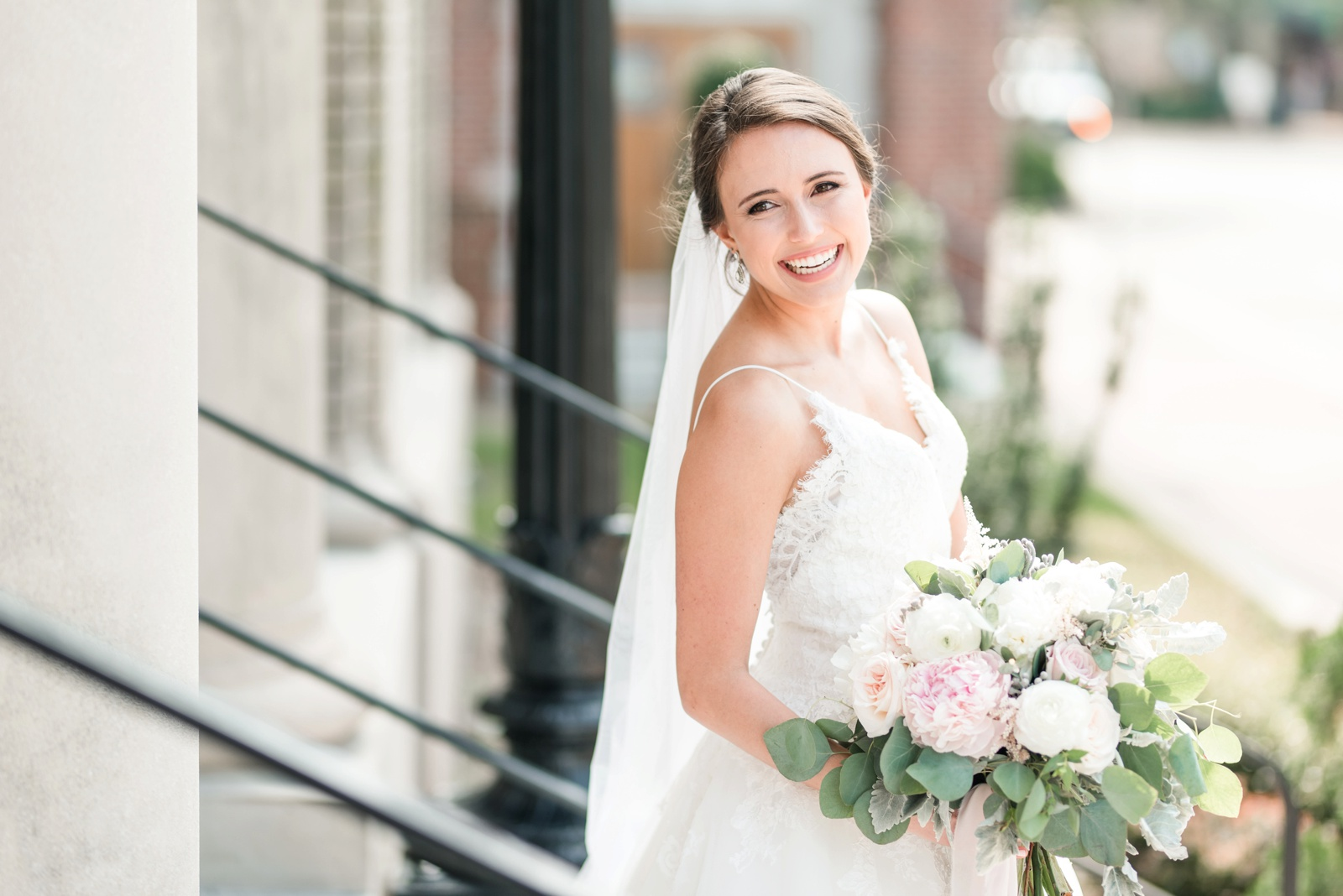 Historic Post Office Hampton Blush Wedding Virginia