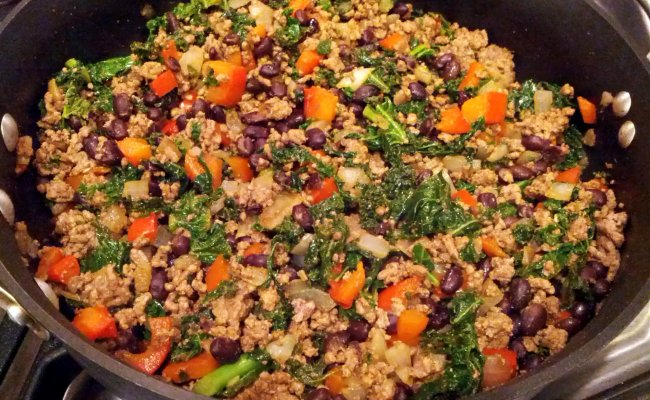 Kale And Ground Beef Turkey Taco Filling Audrey S Apron