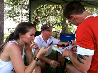 Deciphering clues at the Orlando Rugby stop.