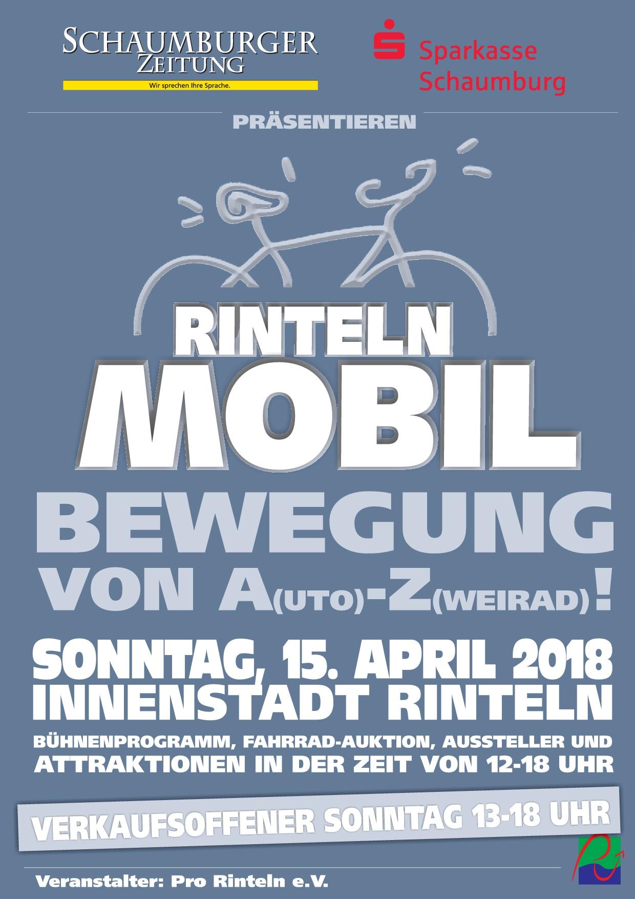 Besuchen Sie uns bei RINTELN MOBIL am 15.04.2018