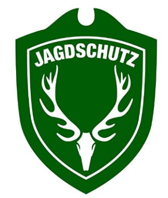 Jäger Jagdschutzschild fürs auto