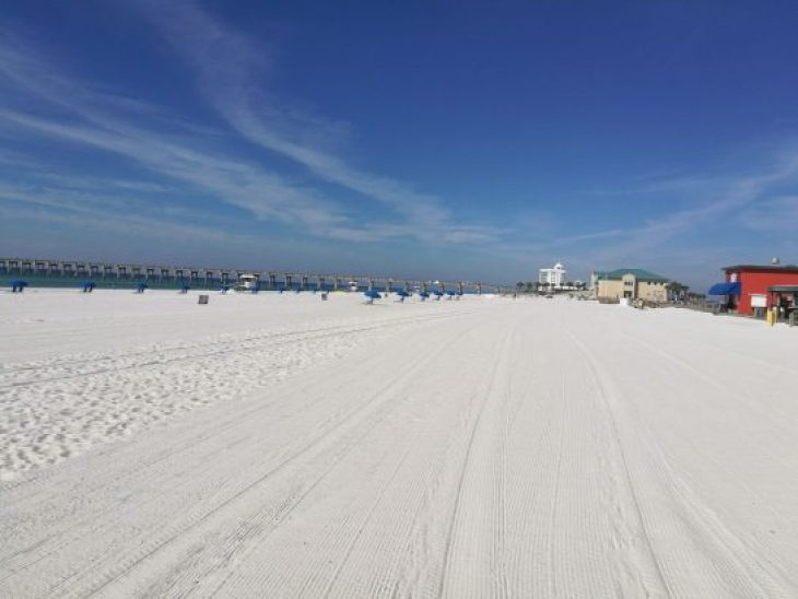 Panhandle Florida weißer Sandstrand