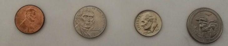 penny nickel dime quater