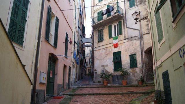 Altstadt von Bordighera, Ligurien, Italien