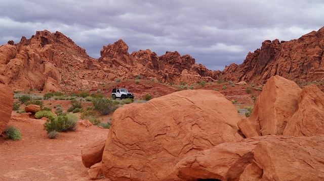 Das Valley of Fire ist rot