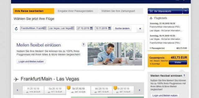 Billigflüge Frankfurt Las Vegas